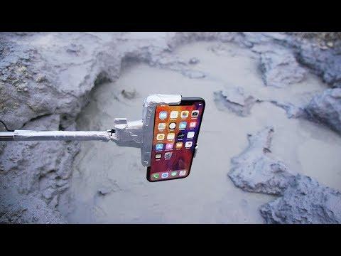 把iPhone X放進沸騰的泥漿池裏面!!! (中文字幕)