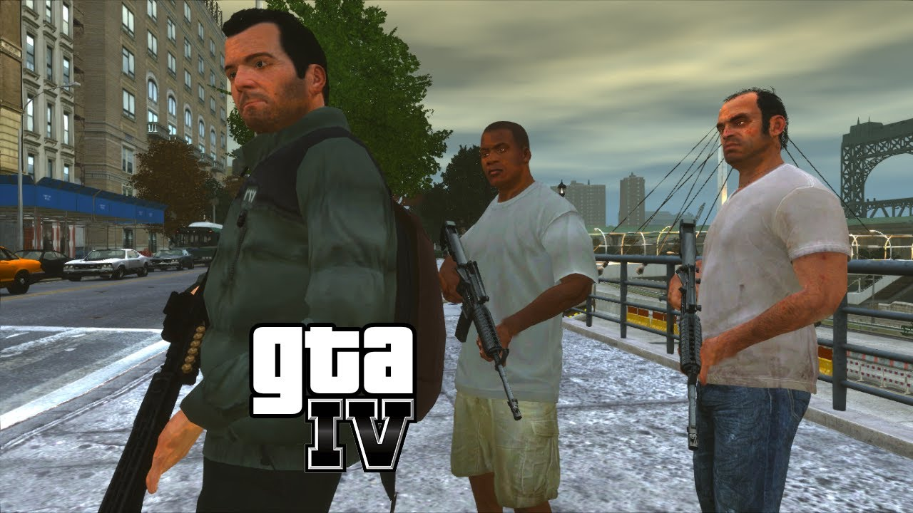 GTA IV MOD - Trevor, Franklin e Michael (BR)