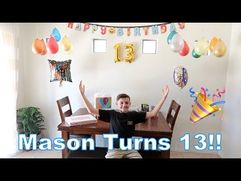 Mason's 13th Birthday!