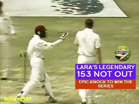 BRIAN LARA 153* Genius! The Greatest 4th innings knock in Te