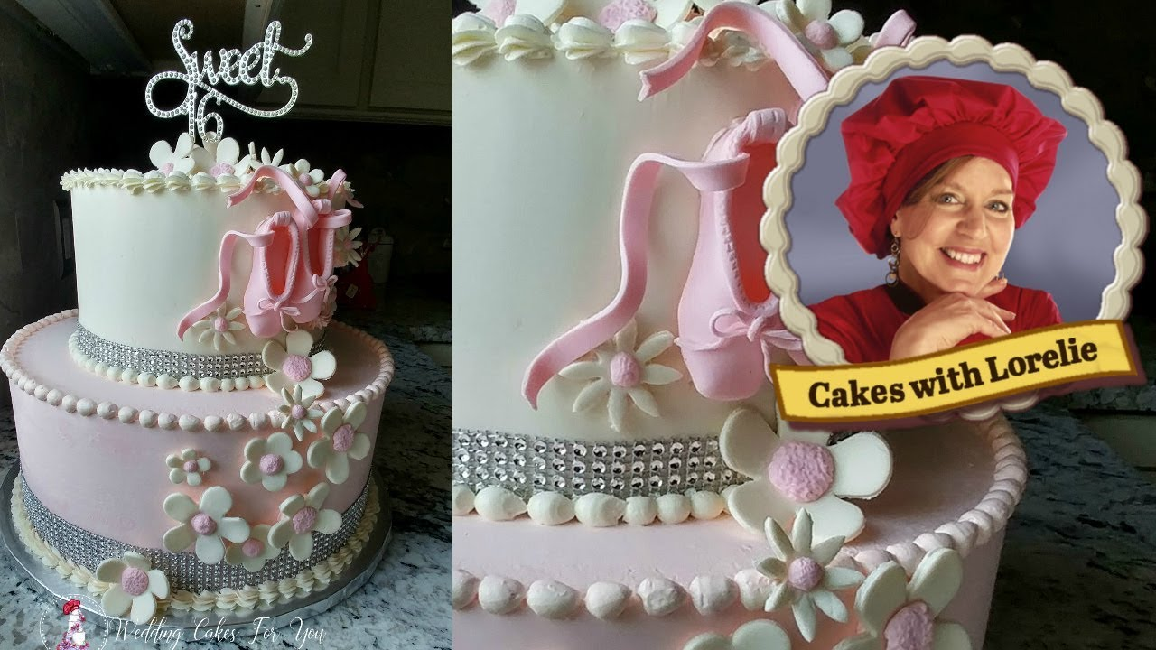 Ballet Birthday Cake Sweet Sixteen Cake Idea Youtube