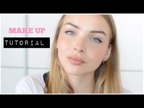 MAKE UP TUTORIAL/ volle LIPPEN/ hohe Wangenknochen - YouTube