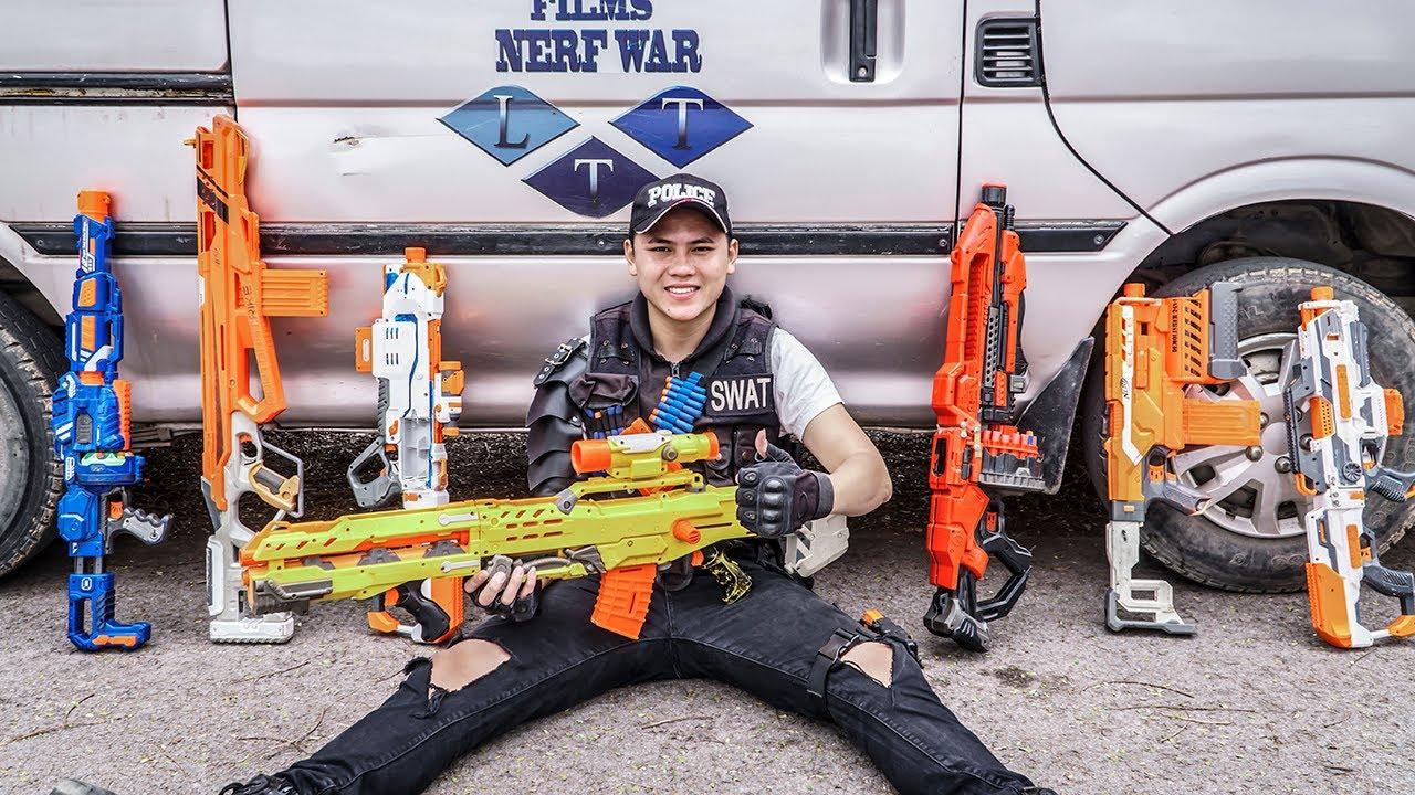 LTT Game Nerf War : Warriors SEAL X Nerf Guns Fight Rocket Crazy Golden Agent Bandits MONEY