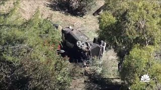 Tiger Woods Injured In Major Rollover Car Crash