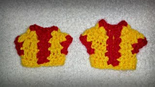 How to make crochet choli for 2 and 3 no. Kanha Ji #5