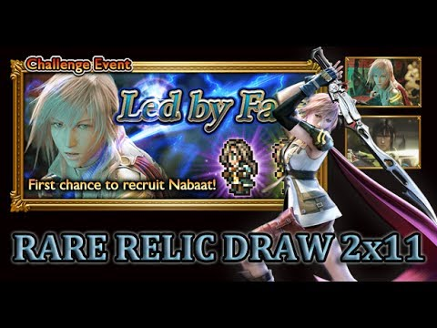 [FFRK] FFXIII Led by Fate | Nabaat - Amazing Rare Relic Draw 2x11 #91
