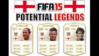 FIFA 15 POTENTIAL LEGENDS #3 ENGLAND ft. Beckham, Charlton, Gascoigne