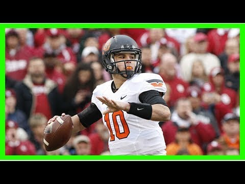 Mason rudolph can use bedlam to stake claim as oklahoma state's greatest qb