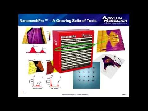 Webinar: Contact Resonance Tools for AFM Nanomechanics