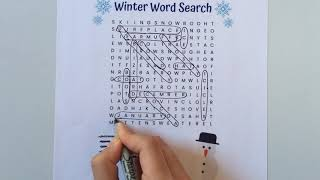 Winter Word Search Puzzle | Word Search With Me 2019