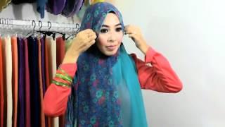 Hijab tutorial : shawls dwi patern