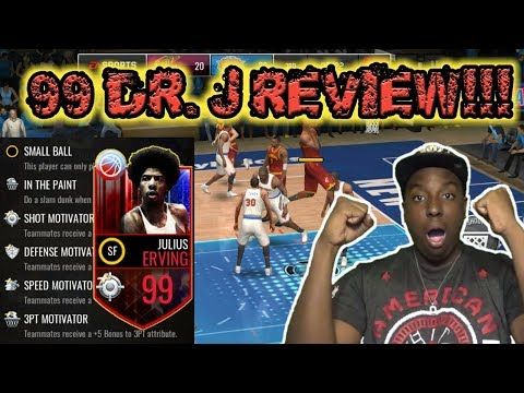 BEST CARD EVER!!! 99 OVR DR. J REVIEW / GAMEPLAY NBA LIVE MOBILE!!! 101 OVR SMALL BALL LINEUP!!!