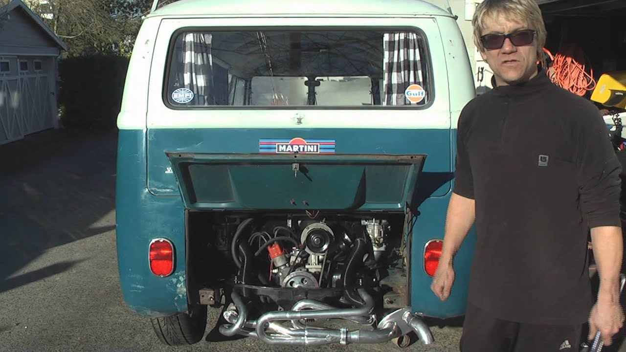 Vintage Vw Bus Engine Installation Diy German Aircooled Garage 12 Youtube