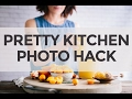 Faux Kitchen Backdrop Hack for Food Photography