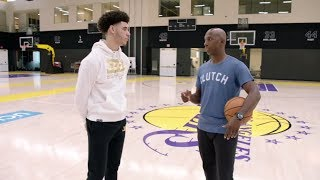 Lonzo Ball interview with Chauncey Billups at Lakers