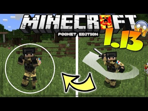 MINECRAFT PE 1.13 ANIMATED PLAYERS MOD / ADDON REVIEW - MCPE 1.13 PLAYER ANIMATIONS MOD