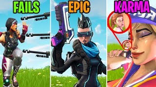 1 NOOB VS 3 HEAVY SNIPERS! FAILS vs EPIC vs KARMA! Fortnite Battle Royale Funny Moments