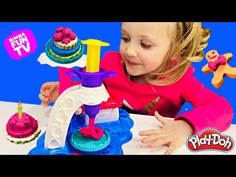 Лепим из Пластилина ПЛЕЙ ДО Видео PLAY DOH Cake Party Pretend Play / Часть 1