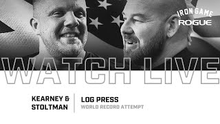Full Live Stream | Kearney vs. Stoltman Log Press Record Attempt