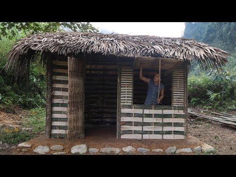 Primitive Technology Hut - Full video (Primitive-Skills)