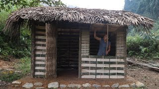 Primitive Technology Hut - Full video (Primitive-Skills)