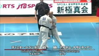 新極真会 The 11th World Karate Championship Men 2nd Round25 Dimitar Trampov Vs Artem Nazaretyan
