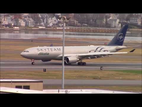 Boston-Logan Airport Afternoon Spotting-KBOS-December 2017