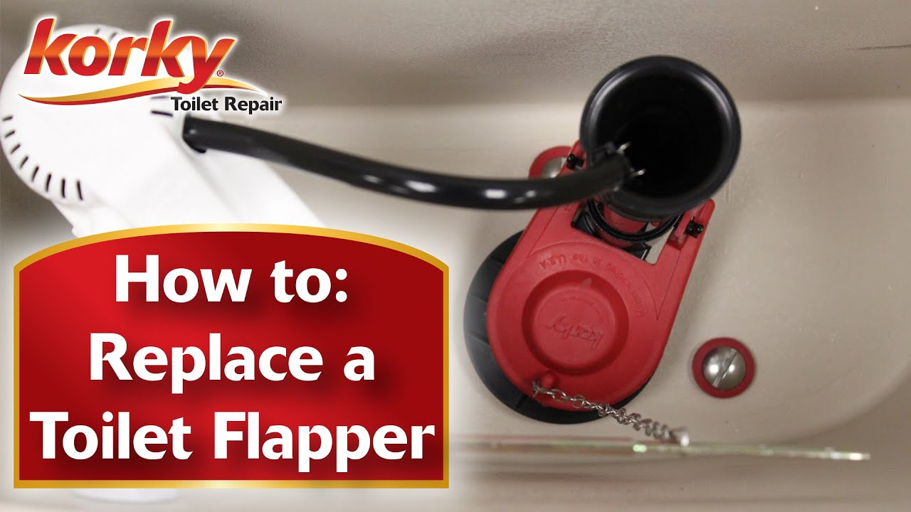 how to replace a toilet flapper with korky youtube. Black Bedroom Furniture Sets. Home Design Ideas