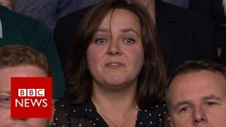 Polish woman jeered on Question Time - BBC News