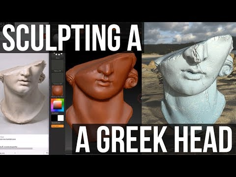 Sculpting A Greek Head Statue | Z BRUSH