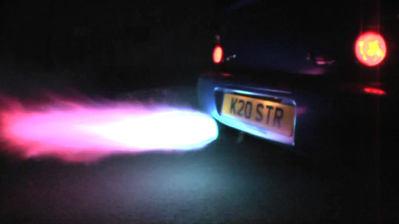 Subaru Launch Control >> Bee*R Rev limiter launch control flames Subaru Impreza WRX STi Blitz Nur Spec R at night - YouTube