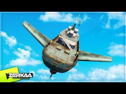 FLYING GIANT TUG BOAT! GTA 5