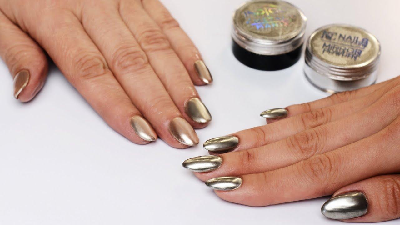 Manicure Hybrydowy Metal Manix Multi Chrome Vs Mirror Powder