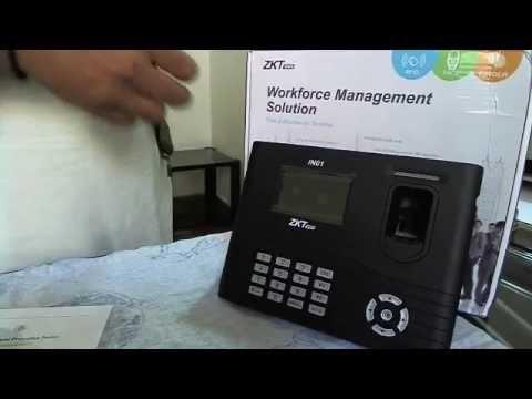 ZK in01 fingerprint reader for door access & time attendance