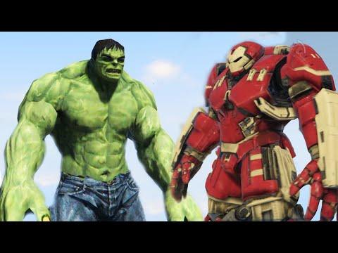 DEMİR ADAM VS HULK!! - GTA 5 Iron Man Hulkbuster vs Hulk