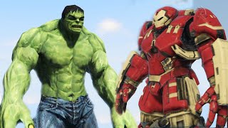 DEMİR ADAM VS HULK!! - GTA 5 Iron Man Hulkbuster vs Hulk