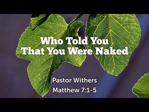 Who Told You That You Were Naked (5/2/2021)