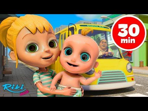 Мультфильм три автобуса на английском