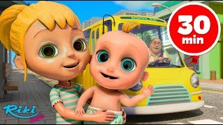 Колёса у Автобуса 🚌 Wheels on the Bus Johny Johny and More | Nursery Rhymes Collection