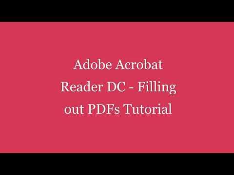 Adobe Acrobat Reader DC   Filling Out PDFs Tutorial