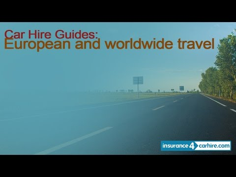 Car hire insurance for European and worldwide travel from I4CH