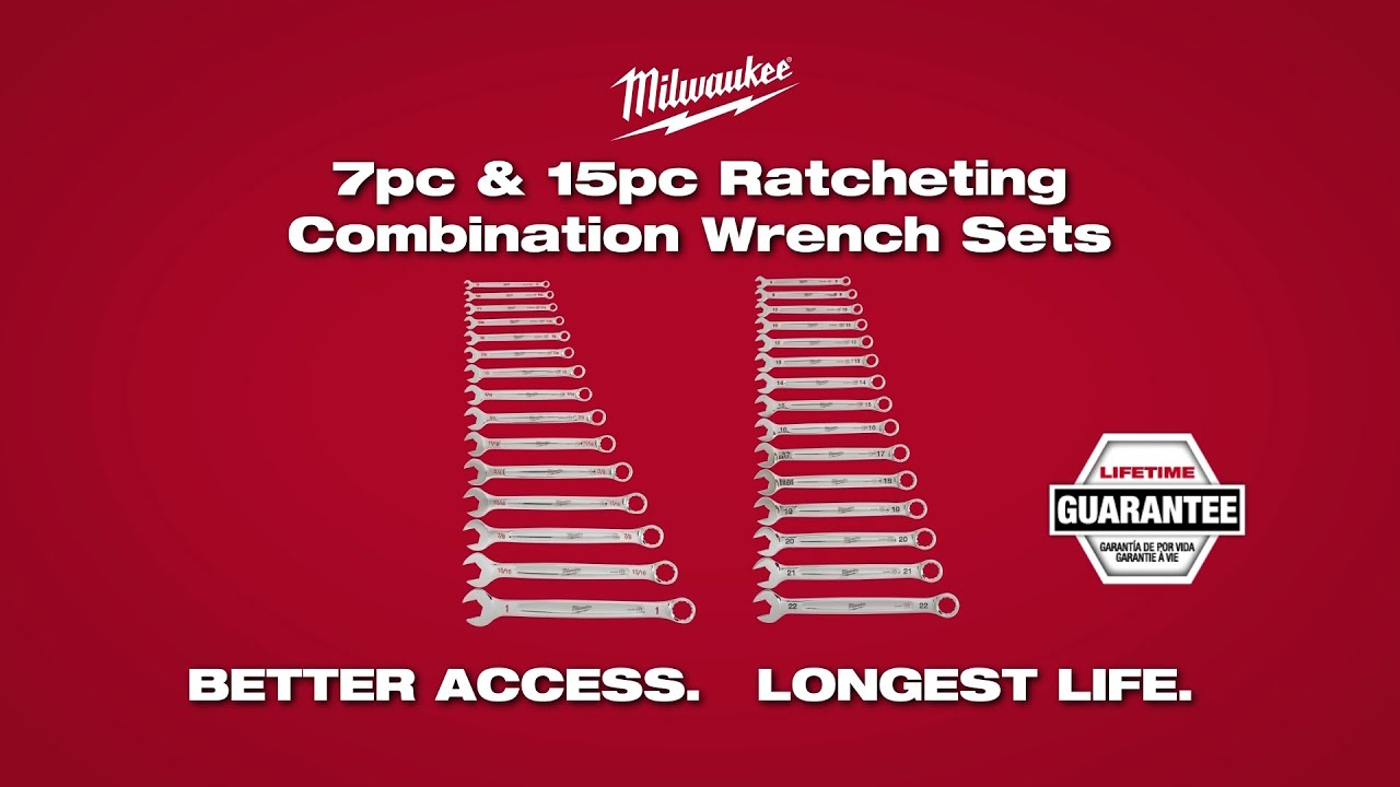 MILWAUKEE® Ratcheting Combination Wrench Sets