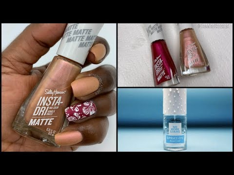 Quick Dry Nail Art Tutorial | Sally Hansen Insta-Dri Matte Polish thumbnail