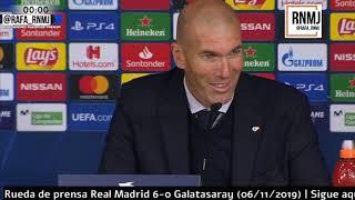 Download Real Madrid 6-0 Galatasaray Rueda de prensa post de ZIDANE Champions (06/11/2019) Mp3 and Videos