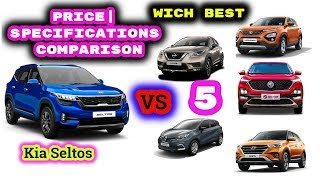 Kia Seltos vs MG Hector,Harrier,Creta,Kicks,Captur|Price| Specifications comparison|Technical info