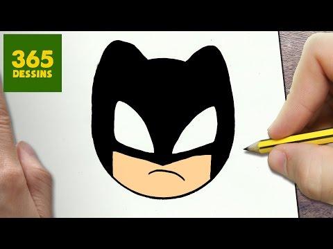 Comment Dessiner Batman Emoticone Kawaii Etape Par Etape Dessins