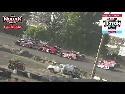 Nodak Speedway IMCA Modified Heats (Motor Magic Night #2) (8/31/19)