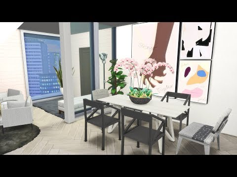 The Sims 4: Let's Build + Chill (LUXE PINK APARTMENT)