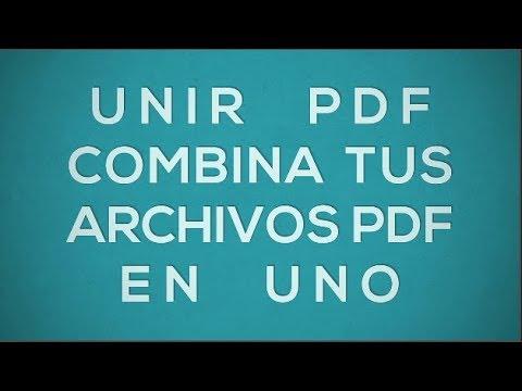 Cómo Unir PDF - Combina Tus Archivos PDF En Uno Solo - YouTube