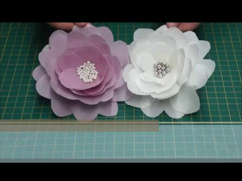 How to make wafer paper flower youtube how to make wafer paper flower mightylinksfo